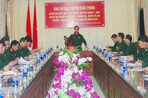 Thượng tướng Lê Chiêm làm việc với BĐBP Quảng Nam