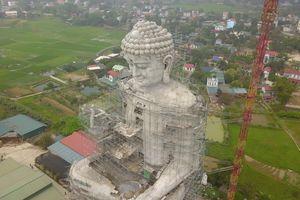 Xem tượng phật lớn nhất Đông Nam Á tại Hà Nội qua góc nhìn flycam