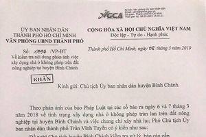 TP.HCM yêu cầu Bình Chánh báo cáo khẩn vụ xây nhà lụi