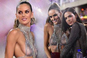 Siêu mẫu Izabel Goulart diện áo lót kim cương khoe gần trọn vòng 1