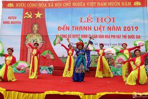 Khai hội đền Thanh Liệt năm 2019 và công bố Di sản Văn hóa phi vật thể Quốc gia
