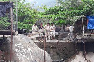 Đà Nẵng tháo dỡ các hạng mục xây dựng trái phép trong khu du lịch
