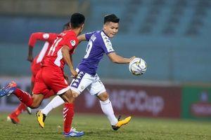 Quang Hải mờ nhạt, Hà Nội FC có 1 điểm trước Tampines Rovers