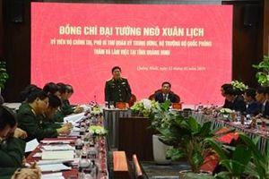 Đại tướng Ngô Xuân Lịch thăm, kiểm tra và làm việc với một số đơn vị trên địa bàn tỉnh Quảng Ninh