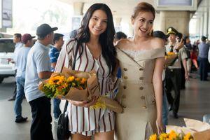 Hoa hậu Ngọc Châu đón đương kim Hoa hậu Siêu quốc gia tại sân bay