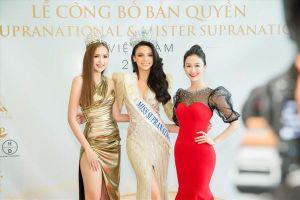 Ngọc Châu diện váy cắt xẻ táo bạo, đọ dáng cùng Hoa hậu Siêu quốc gia