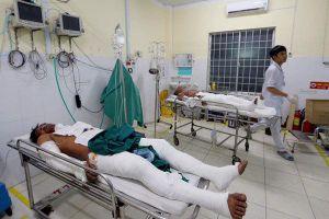 6 thanh niên bốc cháy vì tẩm xăng lên người khi ngồi nhậu