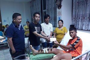 Đội trưởng U.19 SHB Đà Nẵng được đưa về Đà Nẵng điều trị