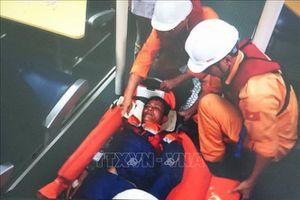 Kịp thời đưa thuyền viên bị bệnh tại khu vực quần đảo Hoàng Sa về Đà Nẵng
