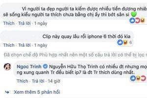 Nổi tiếng đình đám là thế nhưng người đẹp Ngọc Trinh vẫn yêu thích chiếc iPhone này