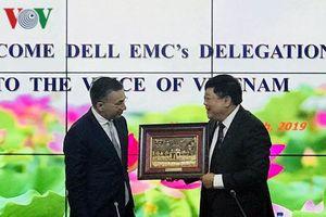 Tổng Giám đốc VOV tiếp Chủ tịch DELL EMC châu Á-Thái Bình Dương