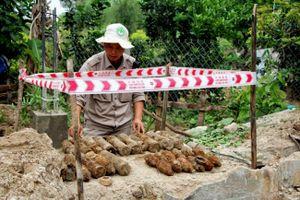 Người dân phát hiện 25 quả đạn súng cối khi đào đất xây móng nhà