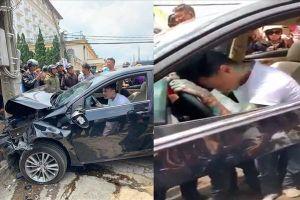 Thanh niên nghi ngáo đá lái ôtô gây tai nạn liên hoàn