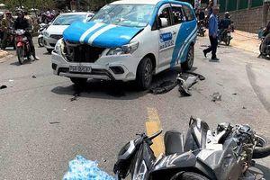 Lái xe nghi 'ngáo đá' tông hàng loạt ô-tô, xe máy