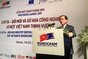 Thứ trưởng Bùi Thanh Sơn khẳng định kỳ vọng của Việt Nam về đẩy nhanh quá trình phê chuẩn EVFTA
