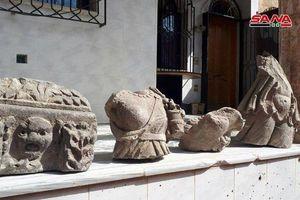 Quân cảnh Syria phát hiện, thu giữ cổ vật bị 'quân nổi dậy' cướp và chôn giấu