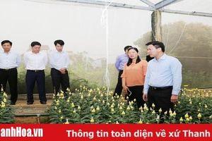 Phó Bí thư Thường trực Tỉnh ủy, Trưởng Đoàn ĐBQH tỉnh Đỗ Trọng Hưng thăm, làm việc tại huyện Vĩnh Lộc