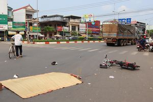 Nữ sinh tử vong thương tâm do va chạm với xe tải