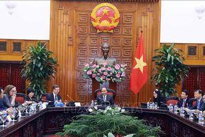 Thủ tướng tiếp đoàn doanh nghiệp của Hội đồng kinh doanh Hoa Kỳ-ASEAN