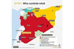 Syria: Bản đồ tuơng quan lực lượng sau 7 năm nội chiến