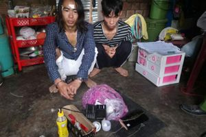 Bắt ổ tàng trữ ma túy và vũ khí thô sơ