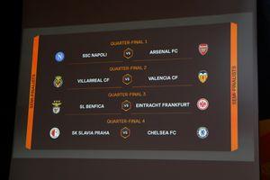 Tứ kết Europa League: Arsenal đối đầu Napoli, Chelsea dễ thở với Slavia Prague