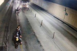 Truy tìm nhóm thanh niên chặn ô tô trong hầm đường bộ Phước Tượng