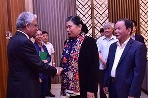 Phó Chủ tịch Thường trực Quốc hội Tòng Thị phóng tiếp Điều phối viên Liên Hợp Quốc tại Việt Nam