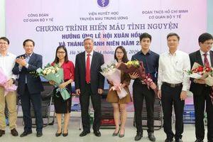 Đông đảo cán bộ trẻ, đoàn viên thanh niên Bộ Y tế tham gia hiến máu tình nguyện