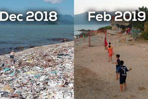 Thử thách dọn rác ở bãi biển Vĩnh Lương, Nha Trang khiến dân mạng dậy sóng