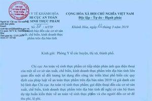 Khánh Hòa: Cảnh báo giả danh cán bộ ATTP để thu tiền bất chính