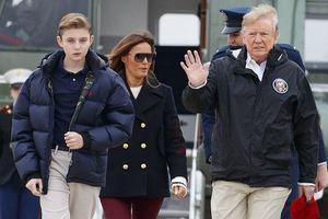 Quý tử 12 tuổi nhà Tổng thống Trump lại thu hút vì vẻ ngoài điển trai và cao lớn bất ngờ