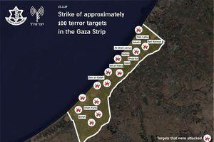 Vì 2 quả tên lửa tự chế, Israel không kích vào 100 mục tiêu trên dải Gaza