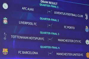Bốc thăm tứ kết Champions League: Đại chiến nước Anh, M.U run rẩy