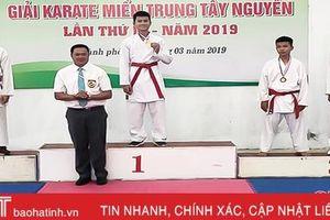 Hà Tĩnh thắng lớn tại Giải Karatedo khu vực miền Trung - Tây Nguyên 2019