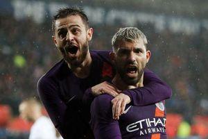 Man City ngược dòng khó nhọc trước Swansea để vào bán kết FA Cup