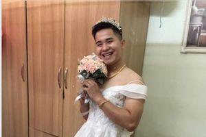 CĐM đua nhau khoe ảnh chồng mặc váy cưới và cái kết bất ngờ