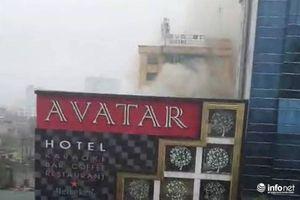 Nghệ An: Cháy lớn tại khách sạn Avatar, nhiều người tháo chạy tán loạn