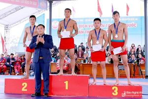 Đoàn Nghệ An giành 7 huy chương tại Giải Vô địch vật dân tộc toàn quốc