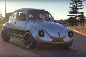 Xế cổ Volkswagen Beetle độ công suất với trái tim Subaru
