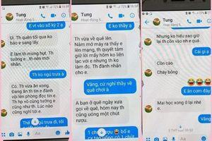Chuyển công tác thầy giáo gạ tình nữ sinh Thái Bình qua tin nhắn