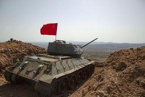 Quân cảnh Nga phục hồi xe tăng T-34-85 bị Syria bỏ lại chiến trường từ năm 1973