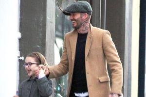David Beckham tươi cười điển trai, dẫn con gái cưng đi mua sắm