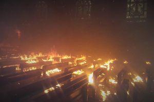 Nhà thờ Thọ Vực bị thiêu rụi sau 2 giờ hỏa hoạn