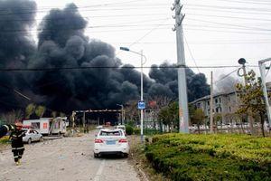 Nổ nhà máy hóa chất ở Trung Quốc, ít nhất 6 người chết