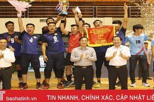 Thị xã Kỳ Anh vô địch Giải bóng chuyền nam thanh niên Hà Tĩnh năm 2019