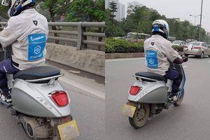 Bắt gặp xe điện đắt đỏ Vespa Elettrica chạy thử trên đường phố Việt