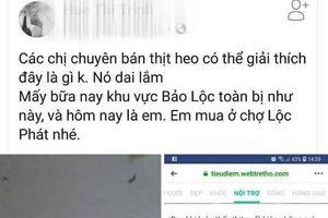 Tung tin bịa đặt heo nhiễm sán trên facebook, một phụ nữ bị phạt 10 triệu đồng