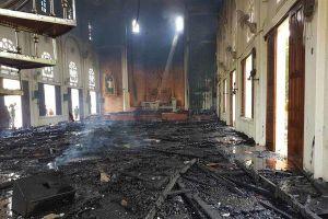 Cháy lớn nhà thờ ở Hà Tĩnh, nhiều tài sản bị thiêu rụi