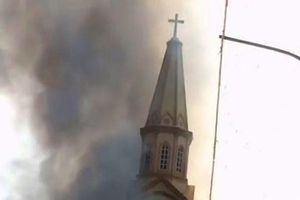 Hà Tĩnh: Nhà thờ Thọ Vực bị cháy nghi do chập điện